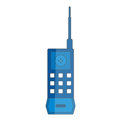 First mobile phone icon vector