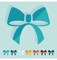 Flat design ribbon vector
