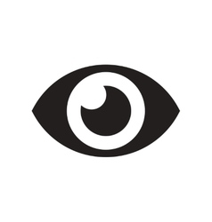 flat icon in black and white style human eye vector image