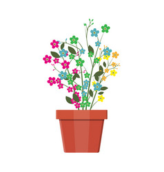 Flower plant in flower pot decoration home plant vector