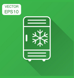 Fridge refrigerator icon in flat style freezer vector