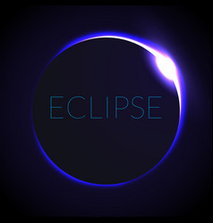 Full eclipse eclipse vector