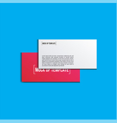 gift card realistic mock up template vector image