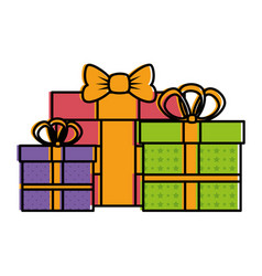 gifts boxes presents icon vector image