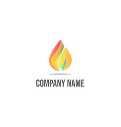 gradient 3d fire logo design vector image