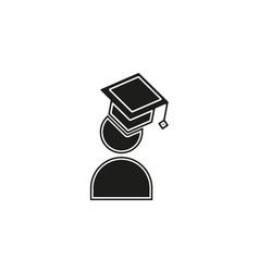 graduate student icon flat vector image