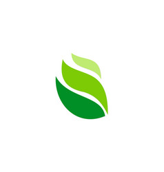 Green leaf abstract ecology logo vector