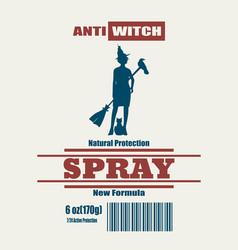halloween spray label vector image