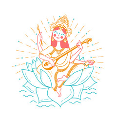 Happy vasant panchami vector