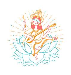 happy vasant panchami vector image