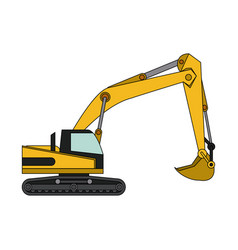 heavy machinery construction icon image vector image