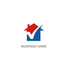 home realty check company logo vector image