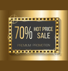 Hot price sale 70 percent off cost discount banner vector