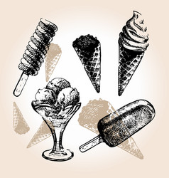 ice cream draw vector image