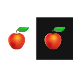 icon with organic apple vector image