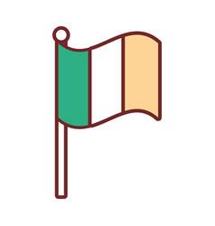 irish flag icon image vector image