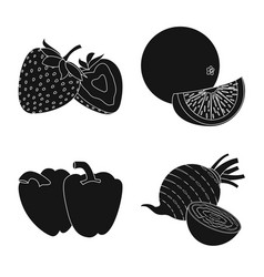 isolated object of vegetable and fruit symbol vector image