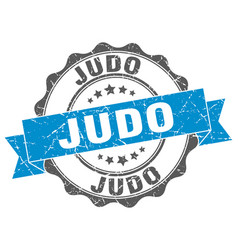 judo stamp sign seal vector image