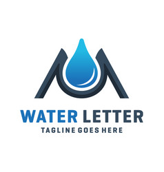 Letter m water logo design vector