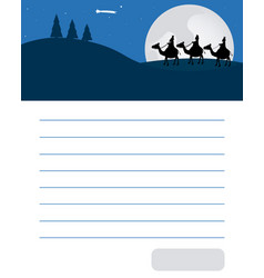 Letter to three wise men orient vector