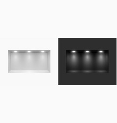 lightbox with spotlight in wall studio showroom vector image