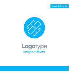 Link chain url connection link blue solid logo vector
