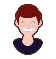 Man smile character icon vector