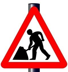 Men at Work Traffic Sign vector