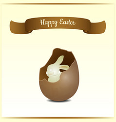 Minimalistic greeting and gift card for easter vector