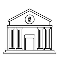 money bank icon outline style vector image