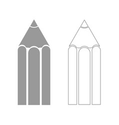 pencil the grey set icon vector image