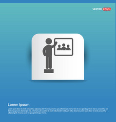 Presentation on business growth icon - blue vector