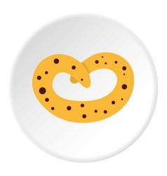 Pretzel icon circle vector