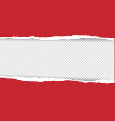 Red torn paper vector