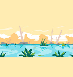 River game background landscape vector