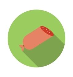 Sausage flat icon vector