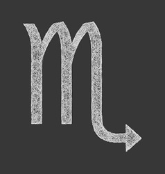 Scorpio zodiac sign line art vector