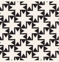 seamless black and white cross lattice pattern vector image