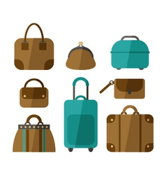 set of handbags isolated on white background vector image