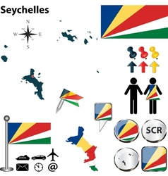 Seychelles map vector image