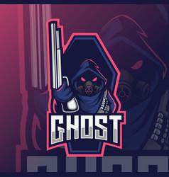 soldier mascot logo esport vector image