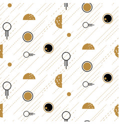 space and planets abstract flat line style vector image