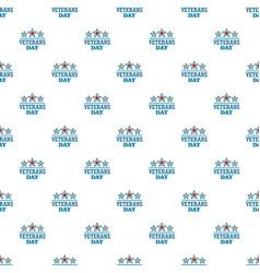 stars veterans pattern seamless vector image