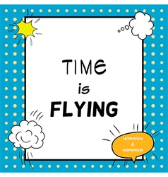 Time is flying vector