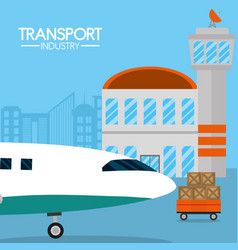 transport industry concept vector image