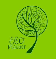 Tree hand drawn eco vector