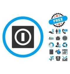 Turn Off Flat Icon with Bonus vector