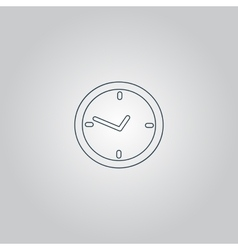 watch flat icon vector image