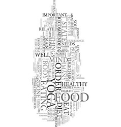 Yoga diet text word cloud concept vector