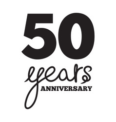 50 years anniversary vector image